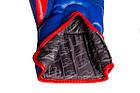Боксерські рукавиці PowerPlay 3018 Сині 12 унцій, фото 2