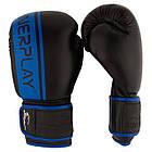 Боксерські рукавиці PowerPlay 3022 Чорно-Сині [натуральна шкіра] 16 унцій, фото 8