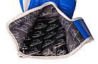 Боксерські рукавиці PowerPlay 3023 A Синьо-Білі [натуральна шкіра] 14 унцій, фото 6
