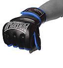 Рукавички для MMA PowerPlay 3058 Чорно-Сині M, фото 2