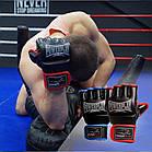 Рукавички для MMA PowerPlay 3058 Чорно-Сині M, фото 9