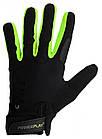 Рукавички для кроссфіту PowerPlay Hit Full Finger Чорно-Зелені XL, фото 2