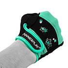 Фітнес рукавички PowerPlay 3492 жіночі Чорно-М'ясного ятні S, фото 3