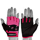Рукавички для фітнесу PowerPlay 3492 жіночі Чорно-Розові XS, фото 2