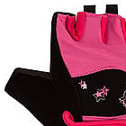 Рукавички для фітнесу PowerPlay 3492 жіночі Чорно-Розові XS, фото 3