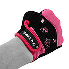 Рукавички для фітнесу PowerPlay 3492 жіночі Чорно-Розові XS, фото 5