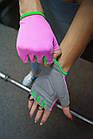 Рукавички для фітнесу PowerPlay 418 жіночі Розові M, фото 2