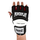 Рукавички для MMA PowerPlay 3075 Чорні-Білі S, фото 7