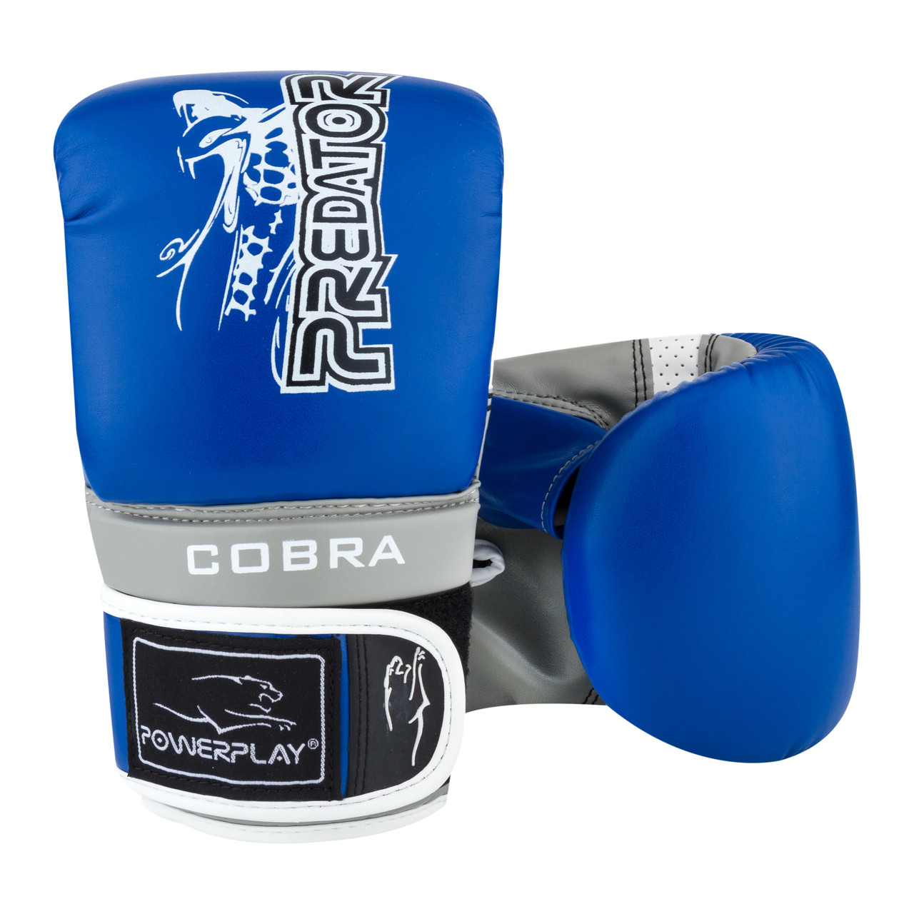 Снарядні рукавички PowerPlay 3038 Синьо-сірі S