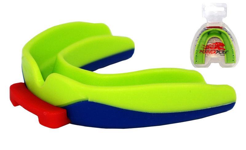 Капа боксерська PowerPlay 3312 SR Зелено-Синя
