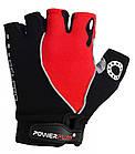 Велорукавички PowerPlay 5019 D Чорно-червоні L, фото 2