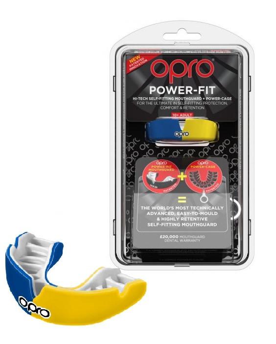 Капа OPRO Power-Fit Hi-Tech Self-Fitting Blue/Yellow (art002293007)