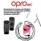 Наколенник спортивный OPROtec Knee Support with Open Patella TEC5729-SM Черный S, фото 6