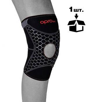 Наколінник спортивний OPROtec Knee Support with Open Patella TEC5729-LG L Чорний