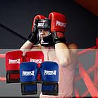 Боксерські рукавиці PowerPlay 3015 Сині [натуральна шкіра] 10 унцій, фото 10