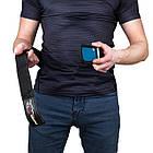 Пояс для важкої атлетики PowerPlay 5545 Синьо-Чорній (Неопрен) S, фото 5