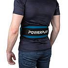 Пояс для важкої атлетики PowerPlay 5545 Синьо-Чорній (Неопрен) M, фото 6