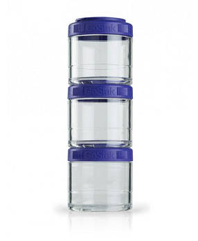 Контейнер спортивный BlenderBottle GoStak 3 Pak Purple (ORIGINAL)