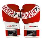 Боксерські рукавиці PowerPlay 3023 A Червоно-Білі [натуральна шкіра] 12 унцій, фото 5