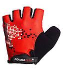 Велорукавички PowerPlay 002 B Червоні L, фото 2