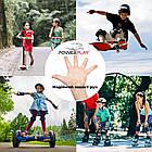 Велорукавички PowerPlay 001 Фламінго Блакитні XS, фото 9