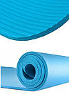 Коврик для йоги и фитнеса Power System  PS-4017 FITNESS-YOGA MAT Blue, фото 4