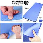 Коврик для йоги и фитнеса Power System  PS-4017 FITNESS-YOGA MAT Blue, фото 6