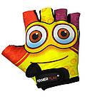 Велорукавички PowerPlay 5473 Minion Жовті 4XS, фото 2