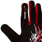 Рукавички для бігу PowerPlay 6607 Чорно-Червоні L, фото 5