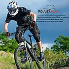Велорукавички PowerPlay 6662 А Чорно-Блакитні XL, фото 8