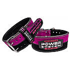 Пояс для пауэрлифтинга Power System PS-3850 Strong Femme Black/Pink S, фото 5
