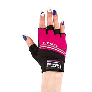 Рукавички для фітнесу і важкої атлетики Power System Fit Girl Evo PS-2920 M Pink