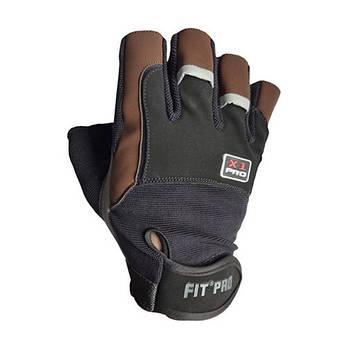 Рукавички для важкої атлетики Power System X1 Pro FP-01 Black/Brown XXL