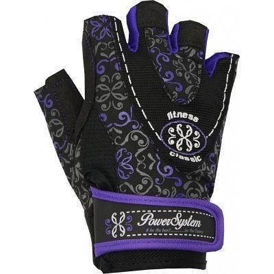 Перчатки для фитнеса и тяжелой атлетики Power System Classy Женские PS-2910 S Black/Purple