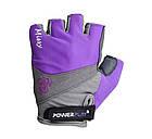 Велорукавички PowerPlay 5277 А Фіолетові XS, фото 2