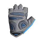 Велорукавички PowerPlay 5277 В Блакитні XS, фото 3