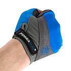 Велорукавички PowerPlay 5277 В Блакитні XS, фото 5