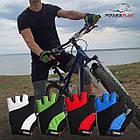 Велорукавички PowerPlay 5041 A Чорно-зелені M, фото 8