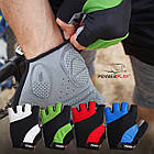 Велорукавички PowerPlay 5041 A Чорно-зелені M, фото 10