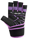 Перчатки для фитнеса и тяжелой атлетики Power System Rebel Girl PS-2720 L Purple, фото 2