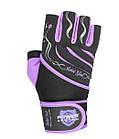 Перчатки для фитнеса и тяжелой атлетики Power System Rebel Girl PS-2720 L Purple, фото 3