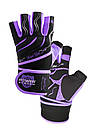 Перчатки для фитнеса и тяжелой атлетики Power System Rebel Girl PS-2720 L Purple, фото 5