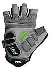 Велорукавички PowerPlay 5037 Чорно-зелені M, фото 3