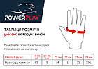 Велорукавички PowerPlay 5034 A Біло-червоні M, фото 4