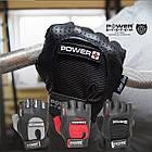 Перчатки для фитнеса и тяжелой атлетики Power System Power Plus PS-2500 M Black/Grey, фото 2