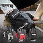 Перчатки для фитнеса и тяжелой атлетики Power System Power Plus PS-2500 M Black/Grey, фото 3