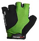 Велорукавички PowerPlay 5028 A Чорно-зелені M, фото 2