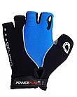 Велорукавички PowerPlay 5019 C Чорно-блакитні XS, фото 2
