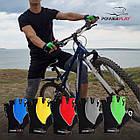 Велорукавички PowerPlay 5019 C Чорно-блакитні XS, фото 9