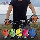 Велорукавички PowerPlay 5004 А Рожеві L, фото 10